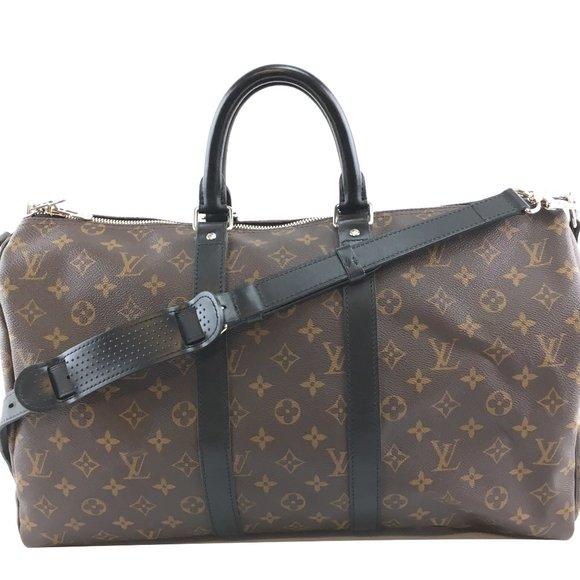 Keepall Duffle Strap 45 Calf Leather Travel Bag